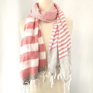 American Eagle Outfitters Striped Fringe Hem Scarf